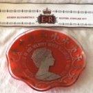 Hammersley Long Pin Tray Queen Elizabeth II Silver Jubilee 1977 + Red Pin Dish
