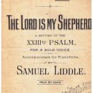 The Lord Is My Shepherd 23rd Psalm Sheet Music Samuel Liddle