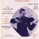 Intermezzo A Love Story Movie Sheet Music Movie Leslie Howard Ingrid Bergman