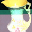 VINTAGE James Kent Bramble Ware Majolica Floral Pitcher Jug 7""
