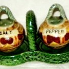VINTAGE Mexican Baskets Clay Pots Salt & Pepper Shakers Tray Handle