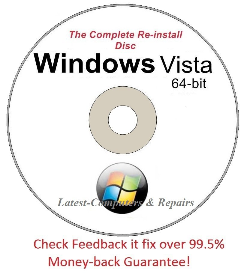 Complete Re-install New Disc Windows Vista Home Basic 64-bit - Had windows? you can Reinstall it