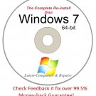 Complete Re-install New Disc Windows 7 Home Basic 64-bit - Had windows? you can Reinstall it,