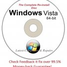 Complete Re-install New Disc Windows Vista  Business 64-bit - Had windows? you can Reinstall it