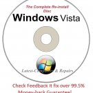 Complete Re-install Windows Vista All Versions 32/64-Bit Disc  - Had windows? you can Reinstall it