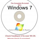 Complete Re-install Windows 7 All Versions 32/64-Bit Disc  - Had windows? you can Reinstall it
