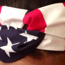 USA Patriotic American Flag Red White Blue Twisted Headband 100% Cotton
