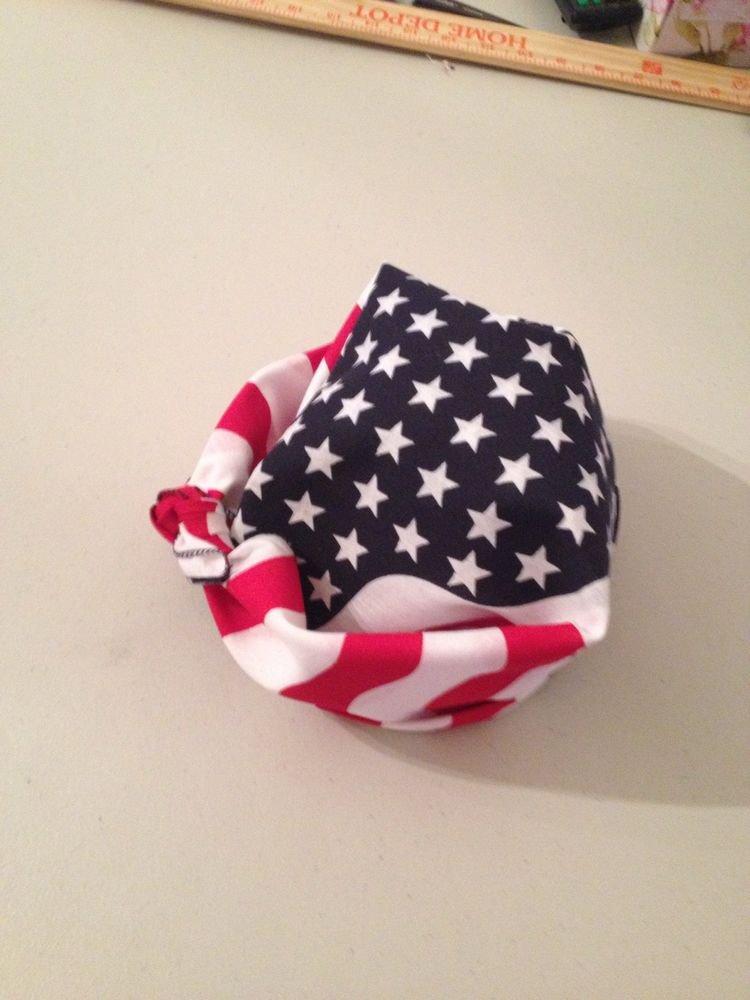 100%Cotton American Flag Head Band