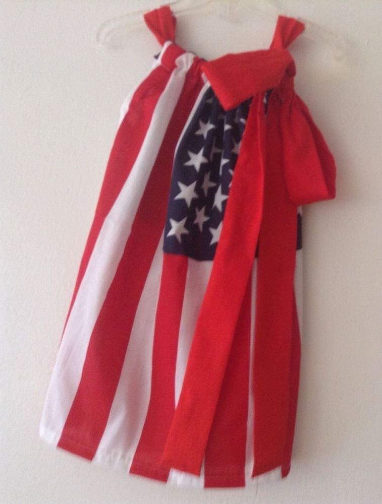 american flag pillowcase dress 4-5
