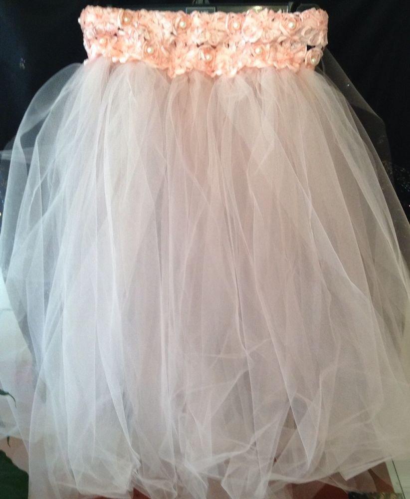 Pink Flower Girl TUTU Dress 2T 3T 4T NEW Handmade Bridesmaid Pageant Wedding