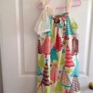 Tree Dress  Pillow Case Dress Size  6-8
