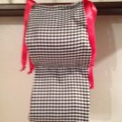 Beautiful Handmade Black Baby Gingham And Red GinghamToilet Paper Holder
