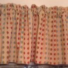 Handmade Beautiful 3D Polka Dots Bright Color Valance