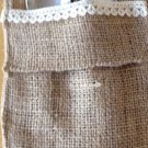 Handmade Set of 6 Burlap And Lace Utensil Holders