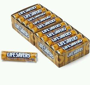 Lifesavers Butter Rum Candy 20 Rolls 14 Pieces per Roll  Butterscotch  Free Ship