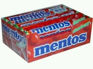 Mentos Mints Strawberry 30 Packs  14 Pieces Candy per Pack  Free Shipping