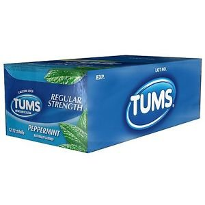 TUMS Regular Strength � Peppermint � 2-12 pk 12 ct- 24 Rolls