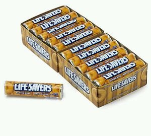 Lifesavers Butter Rum Candy 40 Rolls 14 Pieces per Roll  Butterscotch  Free Ship