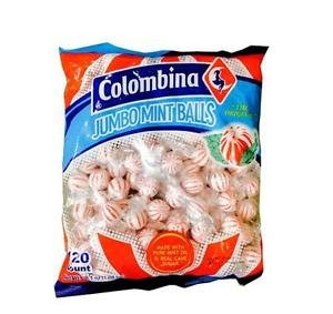 Colombina Jumbo Mint Balls 120 ct Mints Ball Peppermint Candy Candies Bulk Giant