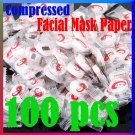100PCS SKIN CARE DIY FACE FACIAL COMPRESSED MASK PAPER