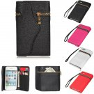 Zipper Envelope Purse Leather Wallet Design Case Cover For iPhone 4 4S