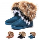 Artificial Fox Rabbit Fur Winter Snow Ankle Boots