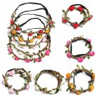 Boho Garland Weave Wreaths Wedding Beach Floral Elastic Hairband