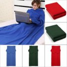 175*130cm Warm Soft Double-sided Plush Clothes Blanket With Sleeves
