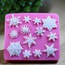 3D Silicone Snowflakes Cake Fondant Decoration Mold