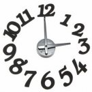 DIY Modern Design Self Digit Dot Adhesive Wall Clock