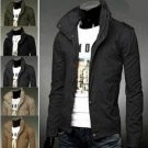 Fashion Korean Collar Coat Slim Washed Jacket