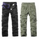 Multi Pockets Pants Cotton Casual Cargo Pants
