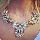 Vintage Crystal Cluster Bubble Pendant Necklace Womens