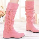 Boho Tassels Flat Women Snow Boots