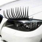 2x 3D Car Headlight Eyelashes Stickers Fashion Cool