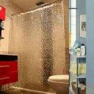 Waterproof Water Cube Pattern Thicker Bath Shower Curtain