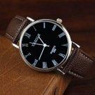 PU Band Big Dial Waterproof Quartz Watch