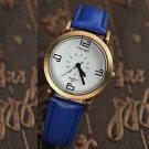 Vintage Artificial Leather Band Metal Case Quartz Watch