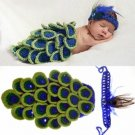 Baby Infant Peacock Crochet Costume Photography Prop Clothes