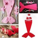 Baby Infant Mermaid Crochet Costume Photography Prop Clothes