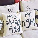 Creative Signature Cotton Pillow Cover Bed Sofa Car Pillowcase