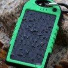 5000mAh Waterproof Shockproof Solar Panel Power Bank For iPhone6