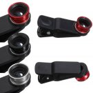 3 In 1 Fisheye Lens Wide Angle Macro Lens For iPhone Cellphone