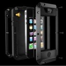 Waterproof Shockproof Aluminum Tempered Glass Cover Case For iPhone 5