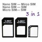 iPhone 5 Nano SIM Micro SIM Standard SIM Card Adapters Interconverting