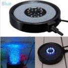 Aquarium Fish Tank Round LED Up Air Bubble Light Lamp Air Stone