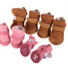 Pet Dog Warm Suede Shoes Footwear Snow Boots