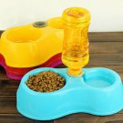 Plastic Pet Dog Cat Food Water Dish Bowl Dispenser Feeder