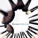 32 pcs Brown Eyeshadow Eyebrow Blush Makeup Brushes Cosmetic Set