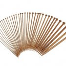 36pcs 18 Size Carbonize Bamboo Single Pointed Knitting Needles Set